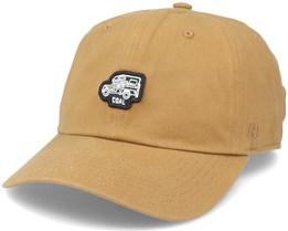The Junior Dad Cap Light Brown Adjustable - Coal