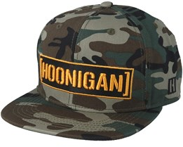 Censor Bar Woodland Camo Snapback - Hoonigan