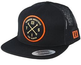 Hits v2 Black/Orange Trucker - Hoonigan