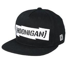 5040563d7916c Letterman Black Snapback - Hoonigan caps