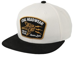 Seeker White Snapback - Coal