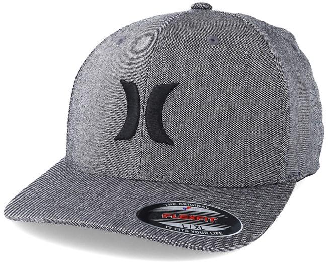 wholesale dealer 19ca8 b4098 Black Suits Outline Dark Grey Flexfit - Hurley caps - Hatstoreworld.com