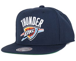 Oklahoma City Thunder Wool Solid Navy Snapback - Mitchell & Ness