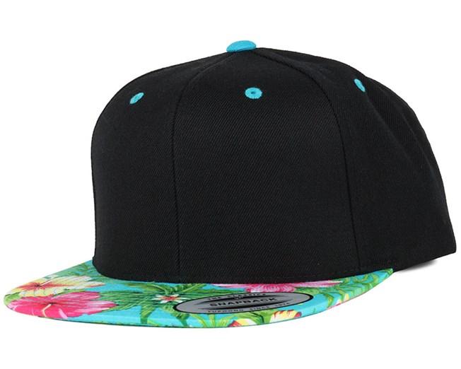 eef0022c54f5d Hawaiian Black Aqua Snapback - Yupoong caps - Hatstoreworld.com