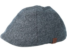 Martinique Heather Grey Flat Cap - Barts