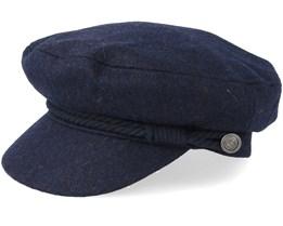 Skipper Navy Flat Cap - Barts