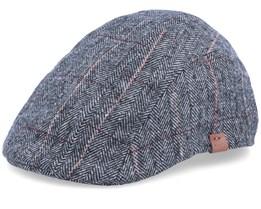 Dublin Herringbone Grey Flat Cap - Barts