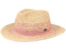 Sol Hat Pink/Beige Straw Hat - Barts