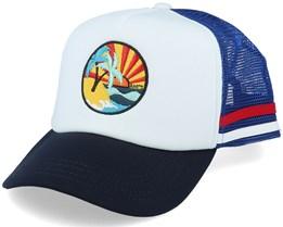 Kids Club Cap White/Blue/Navy Trucker - Barts