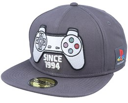 Playstation Controller Grey Snapback - Bioworld