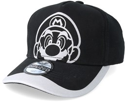 Nintendo Super Mario Reflective Print Curved Black Adjustable - Bioworld