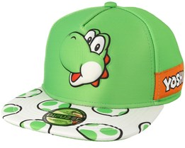 Super Mario Yoshi EVA Molded Screen Print Novelty Green/White Snapback - Bioworld