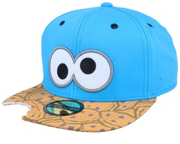 Sesame Street Cookie Bite Teal/Cookie Snapback - Bioworld