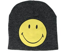 Smiley Original Cracked Print Logo Grey/Yellow Beanie - Bioworld