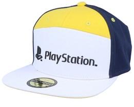 Playstation Logo White/Yellow/Navy Strapback - Difuzed
