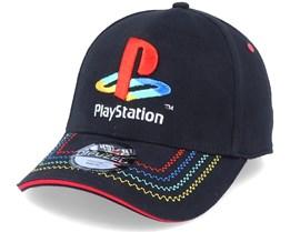Playstation Retro Logo Black Adjustable - Difuzed