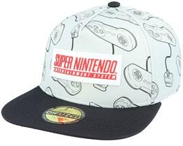 Nintendo SNES Grey/Black Snapback - Difuzed