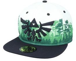 Zelda Green Forest White/Black Snapback - Difuzed