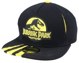 Jurassic Park Ripped Black/Yellow Snapback - Difuzed