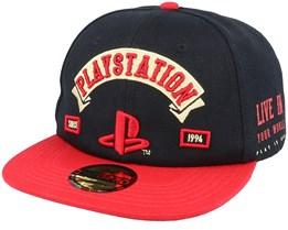 Playstation Biker Black/Red Snapback - Difuzed