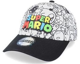Nintendo Super Mario Villains AOP White/Black Adjustable - Difuzed