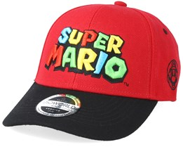 Nintendo Super Mario Logo Curved Red/Black Adjustable - Bioworld
