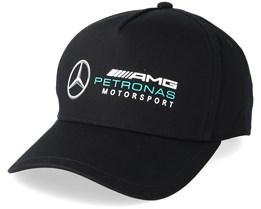 Racer Cap Black Adjustable - Mercedes