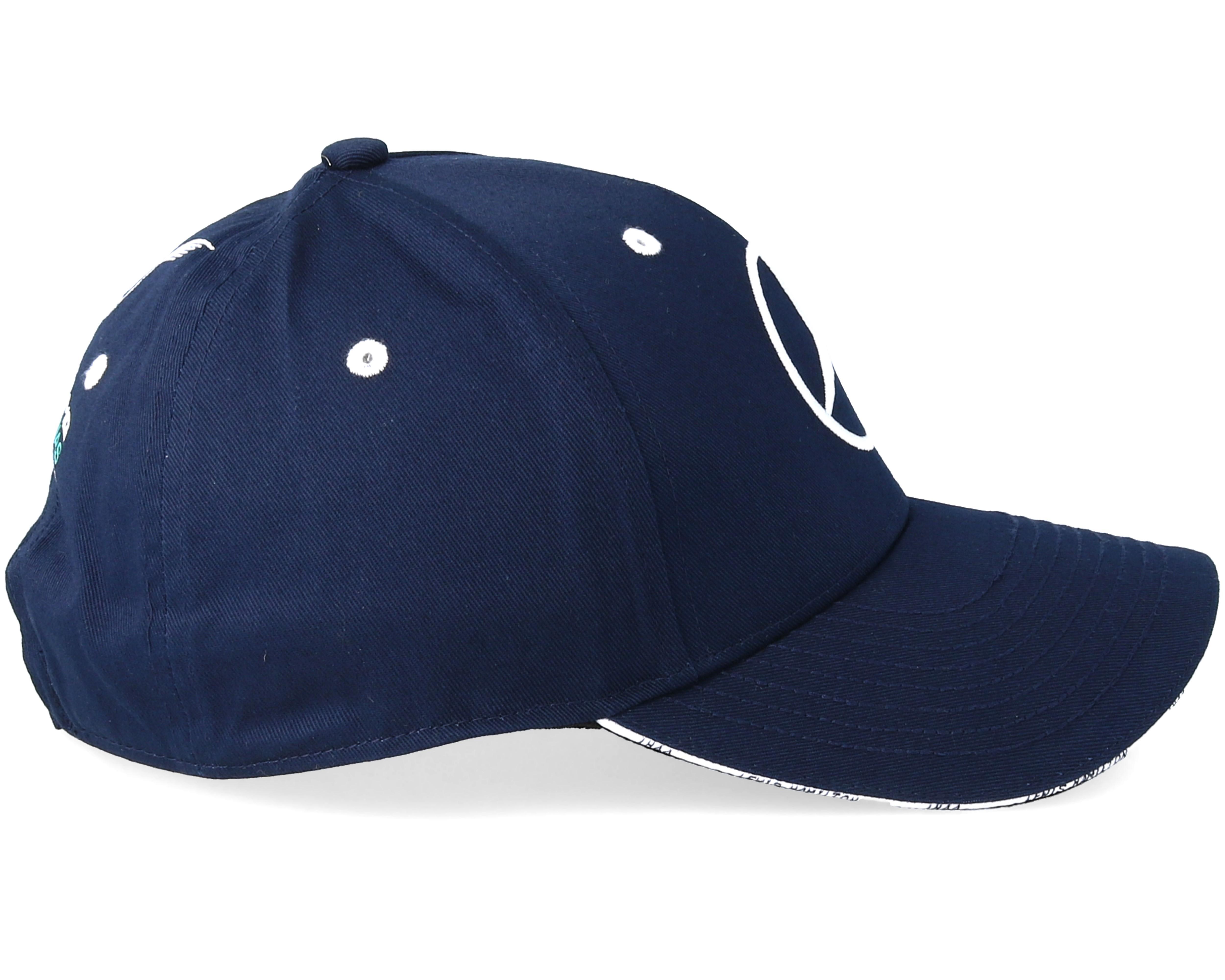 lewis hamilton silverstone cap navy adjustable mercedes casquette. Black Bedroom Furniture Sets. Home Design Ideas