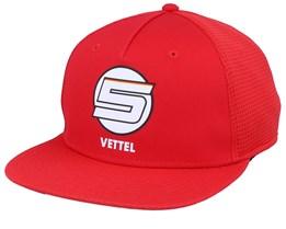 Vettel Flat Brim Red Snapback - Formula One
