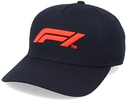Kids Logo Cap Black/Red Adjustable - Formula One