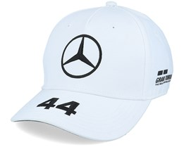 Kids Mercedes Lewis Driver Cap 2 White Adjustable - Formula One