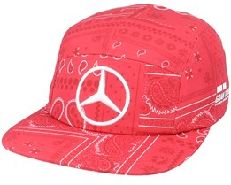 Mercedes Lewis Cap Silverstone Red/White 5-Panel - Formula One