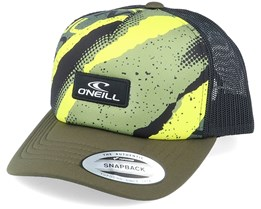 Bb Cap Yellow Aop W/Green Trucker - O'Neill