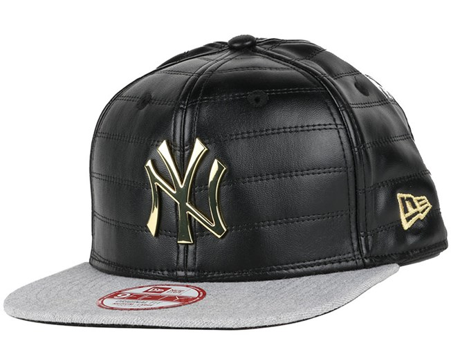hot sale online 6b5d6 147fd NY Yankees Quilted Crown Black Gold 9Fifty Snapback - New Era