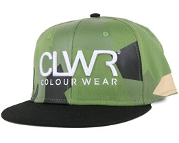 CLWR Asymmetric Olive Snapback - Colour Wear