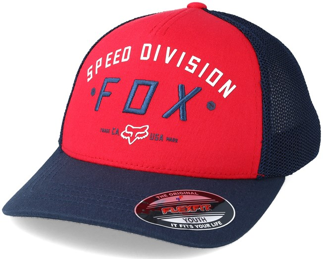 Youth Speed Division Dark Red Flexfit - Fox - Start Gorra - Hatstore 567a43da24c