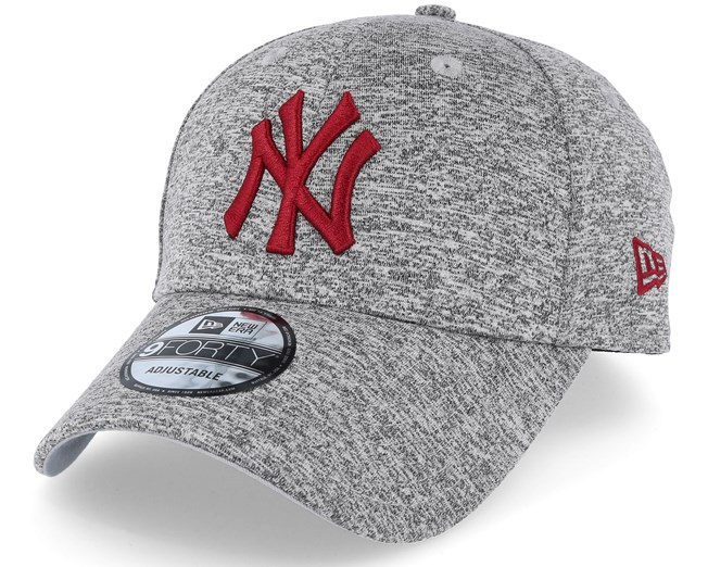 44cd722c5a1 New York Yankees Tech Jersey 9Forty Grey Red Adjustable - New Era caps -  Hatstoreworld.com