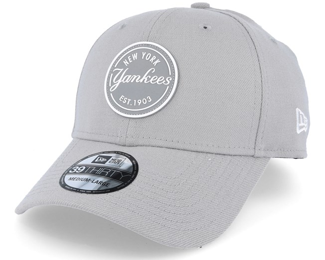e04f71536 New York Yankees Stretch Rubber Emblem Grey 39Thirty - New Era caps ...