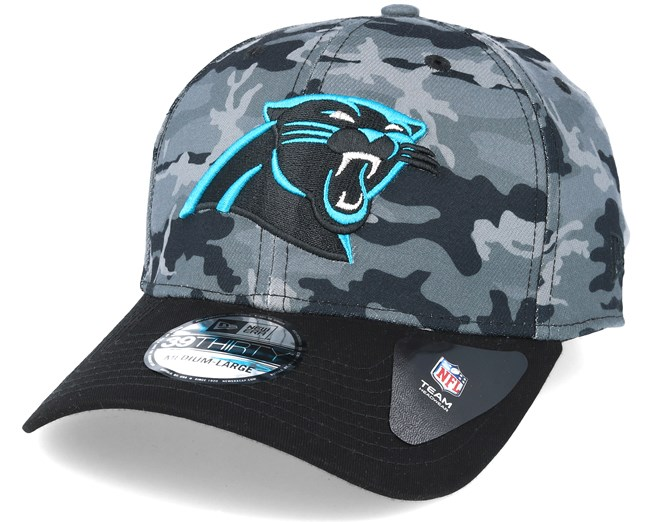 b6b067ed8 Carolina Panthers Team Stretch Grey Camo 39Thirty - New Era caps ...