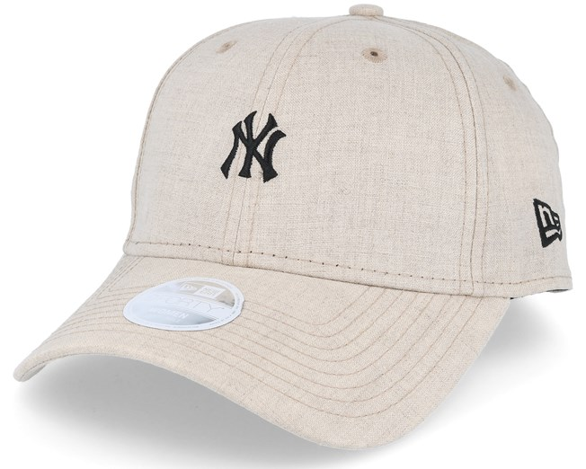 New York Yankees Linen Small Logo Beige Adjustable - New Era caps ... ba4cae97e47