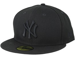 separation shoes efcea 8c9a0 New York Yankees MLB Basics Black Black 59Fifty Fitted - New Era