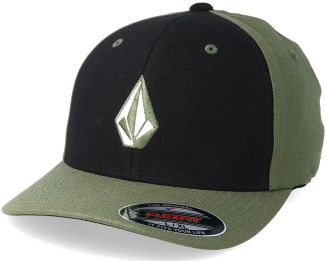 ed16aa6821d Full Stone Black Army Flexfit - Volcom caps