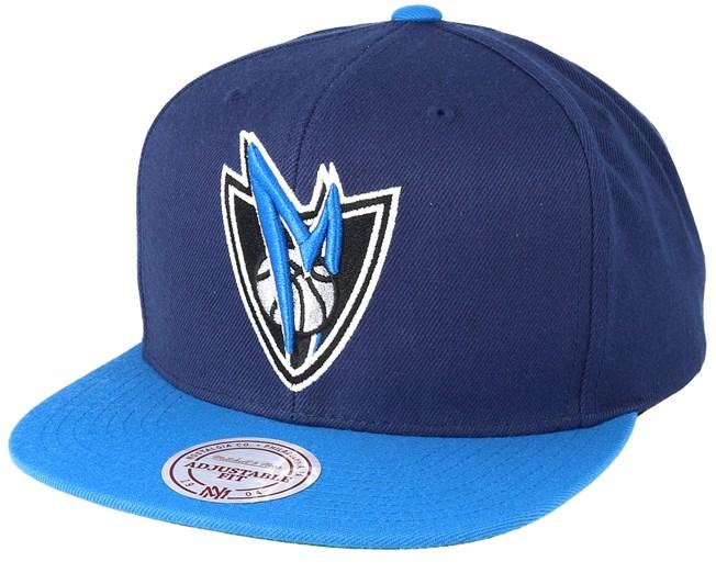 df86d7679715d Dallas Mavericks XL Logo 2 Tone Blue Dark Navy Snapback - Mitchell   Ness  cap - Hatstore.co.in