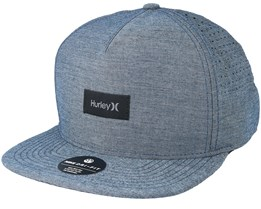 Dri-Fit Staple Blue Snapback - Hurley