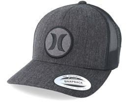Texture Patch Charcoal/Black Trucker - Hurley