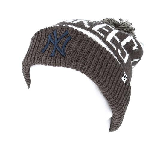 06dfc969146 New York Yankees Sox Calgary Gray Beanie - 47 Brand beanies -  Hatstoreworld.com