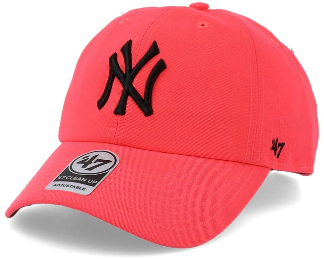 New York Yankees Neon Clean Up Pink Black Adjustable - 47 Brand - Start  Gorra - Hatstore 62a3bf4112e