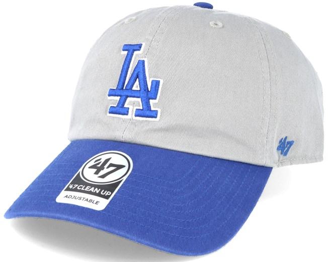 396293615 Los Angeles Dodgers 2 Tone Clean Up Grey/blue Adjustable - 47 Brand ...