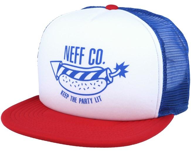 b227cdde07f Suburbia America White Trucker Snapback - Neff caps