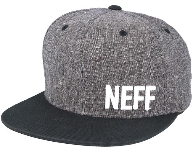 cc1d19bc0193ca Daily Fabric Heather Dark Grey Snapback - Neff caps   Hatstore.co.uk